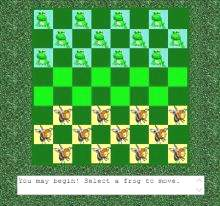 frogs and flies checkers